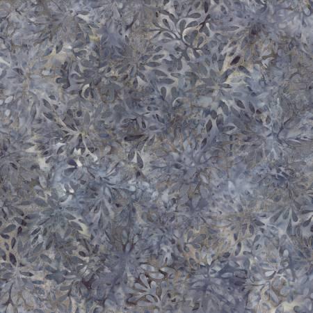 2602 Gray Packed Petals Batik