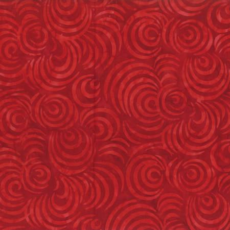 2591 Red Drifting Leaves Batik