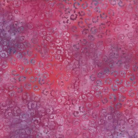 2606 Pink Whimsical Curls Batik