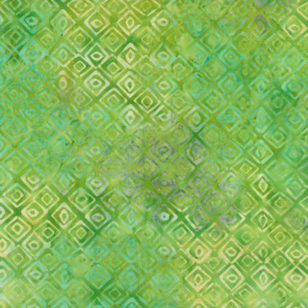WILM- Lime Green Diamond Tiles Batik