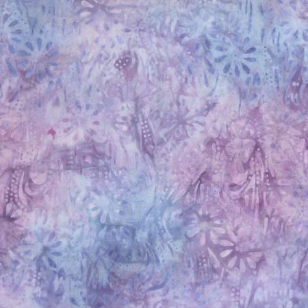 Common Ground Lavender Meandering Flowers Batik