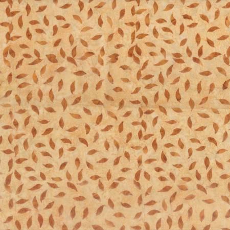 Dark Tan Tiny Leaves Batik 22213