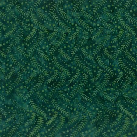 WILM- Green Falling Vines Batik