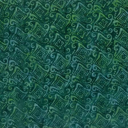 Fancy Geometric Green Batik 22216-794