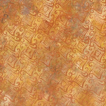 Orange Fancy Geometric Batik 22216