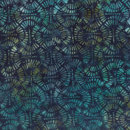 Blue Pins & Needles Batik