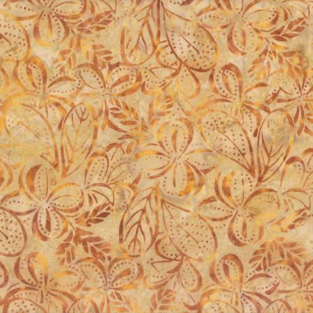 WILM- Tan Plumeria Batik