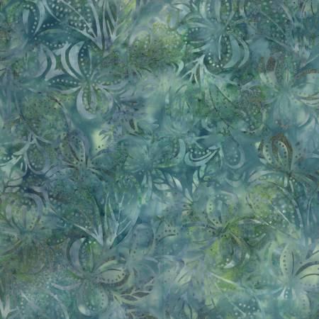 Batik-Plumeria-Green