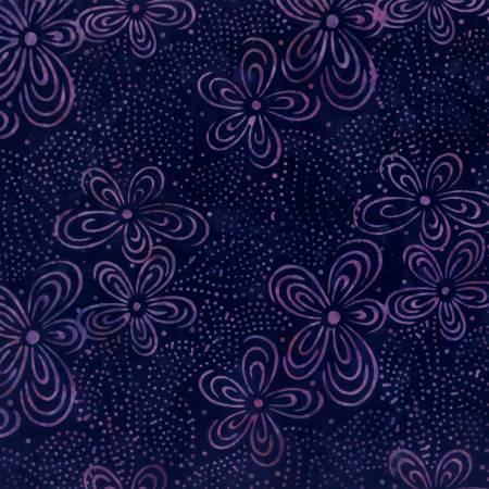 Black Flora Batik