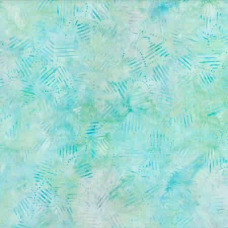 Wilmington - Green/Blue Striped Patchwork Batik
