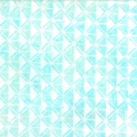 Cream/Blue Geometric Batik