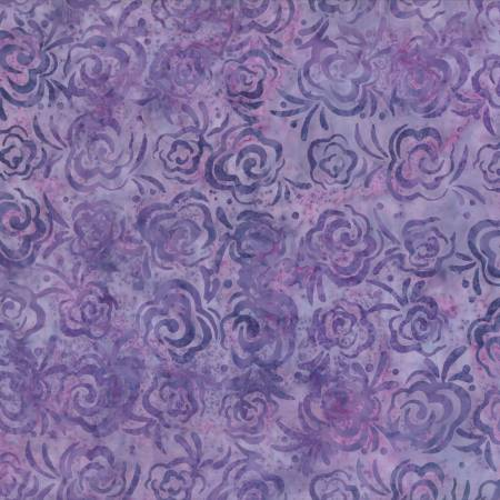 1400 22241 660 Purple Roses Batik for Wilmington Batiks. 100% cotton 43 wide