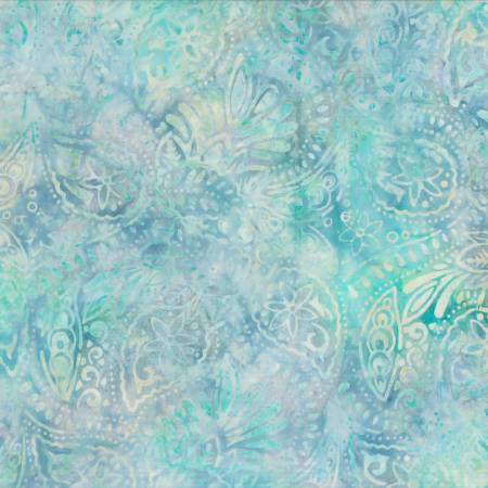 Log-arithm by  Wilmington Prints-22243-144-Blue/Green Packed Paisley Batik