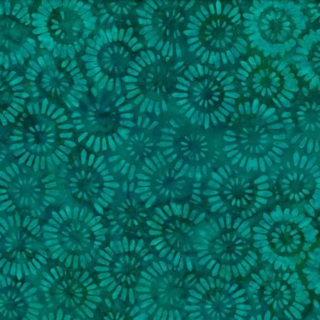 WP 22246-747 Teal Parasols Batik