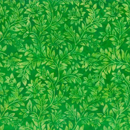 Green Floral Vine Batik