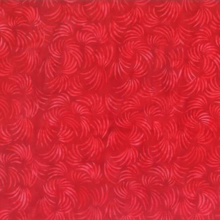 Red Wispy Grass Batik