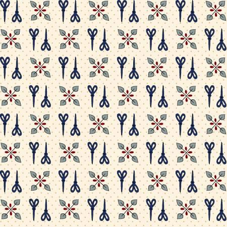 Home Sewn - Cream Scissors by Gail Pan - 30% OFF!