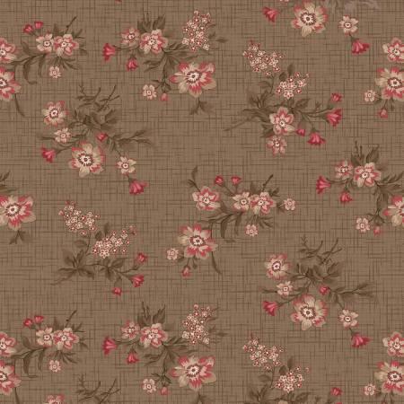 Khaki Vintage Floral Toss