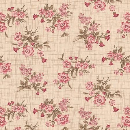 Cream Vintage Floral Toss