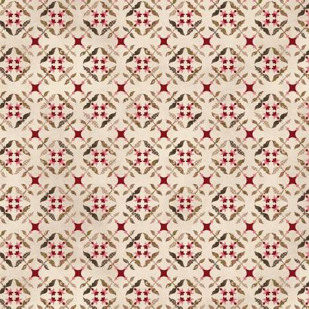 Cream Tile Flowers