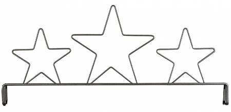 12in Three Star Header Silver Tex