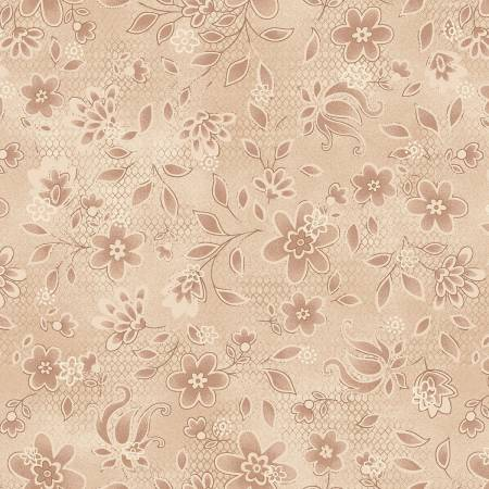 Cream Lacey Floral