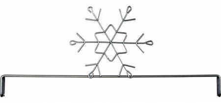 12in Snowflake Header Silver Tex