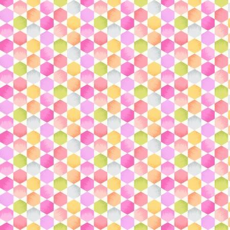Sweet Tweet and Bunny Mini Hexies Pink