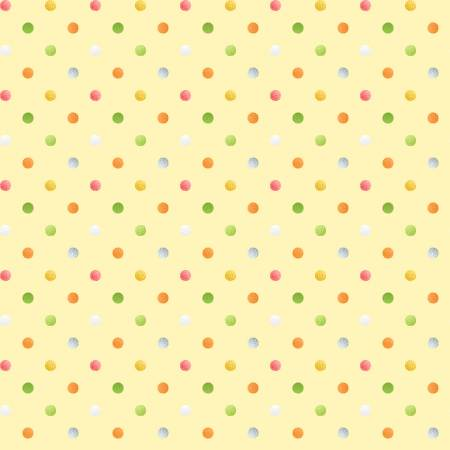 Henry Glass Sweet Tweet & Bunny by Color Principle Yellow Dots