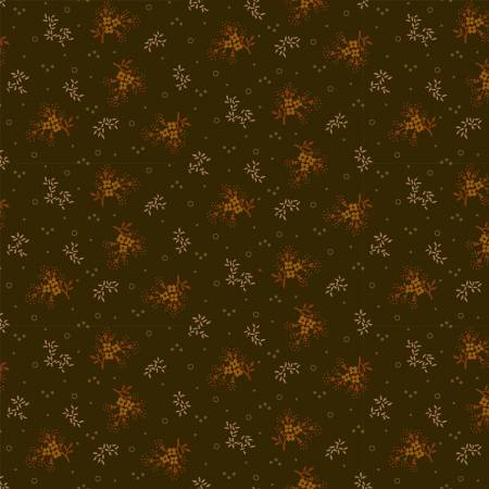 Henry Glass Buttermilk Autumn 2274-66 Green Mini Floral