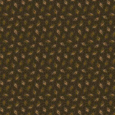 Buttermilk Autumn Green Floating Leaves 2279 66