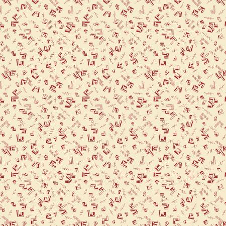 Buttermilk Winter Cream/Red Floating Geo