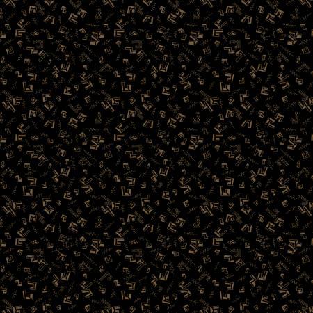 Buttermilk Winter Black Floating Geo