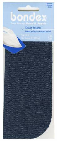 Iron-On Patches- Blue Denim
