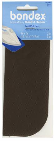 Iron on Patch Seal - Brown, 5in x 7in 2ct