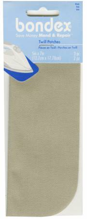 Notions Iron on Patch Khaki 5in x 7in 2ct
