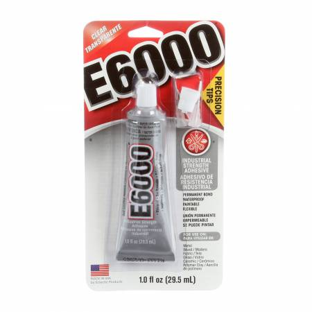 E6000 Adhesive Non-Flame Glue 1oz With Precision Tip ORMD