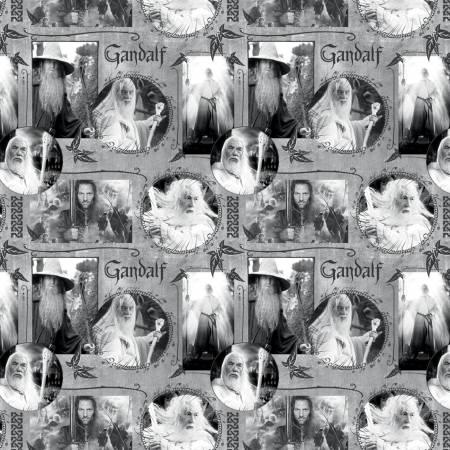Grey Lord of The Rings Gandalf Digitally Printed