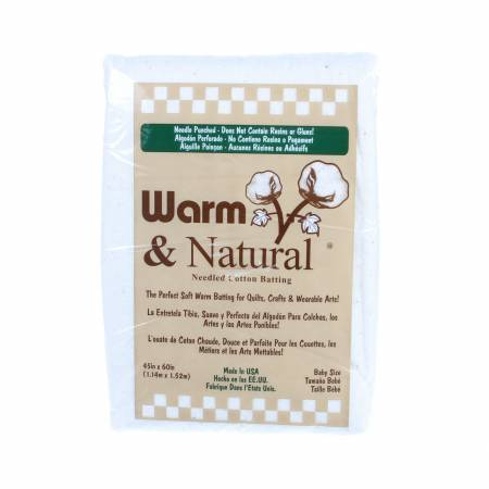 Warm & Natural Cotton Batting - Baby, 45in x 60in