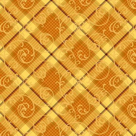 Butter Plaid Scroll
