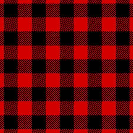 Red/Black Buffalo Plaid Flannel (not yarn dyed)