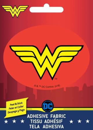 DC Comics - Wonder Woman logo - Adhesive Fabric 3in Badge