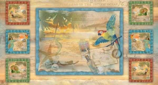 Tropical Dreams Panel Nautical