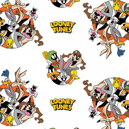 White Looney Tunes That's All Folks