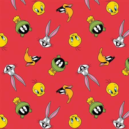 Looney Toons Tossed Faces Flannel