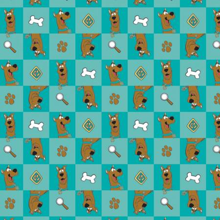 Scooby Doo 2 : Checked Icons Teal - #23700315-01