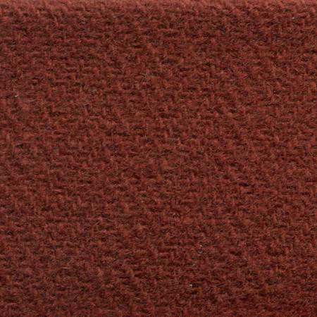 Burnt Orange Herringbone Piece Dyed Wool