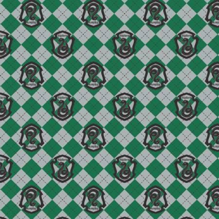 Harry Potter - Green Argyle Slytherin Crest Flannel