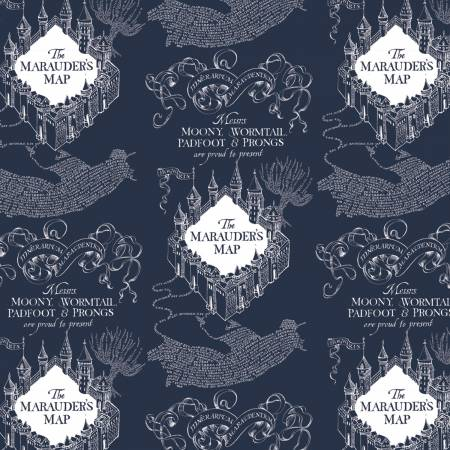 Harry Potter - Blue Marauders Map Flannel