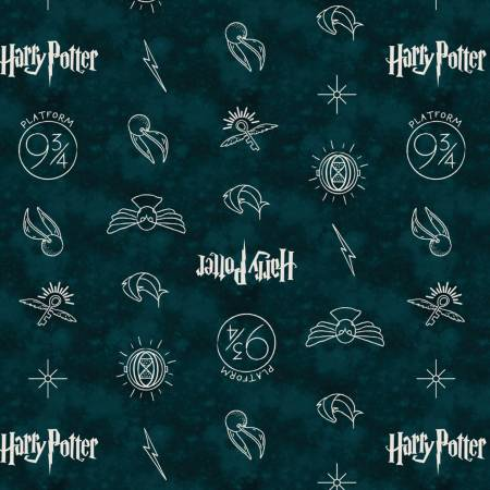 Dark Teal Symbols Harry Potter
